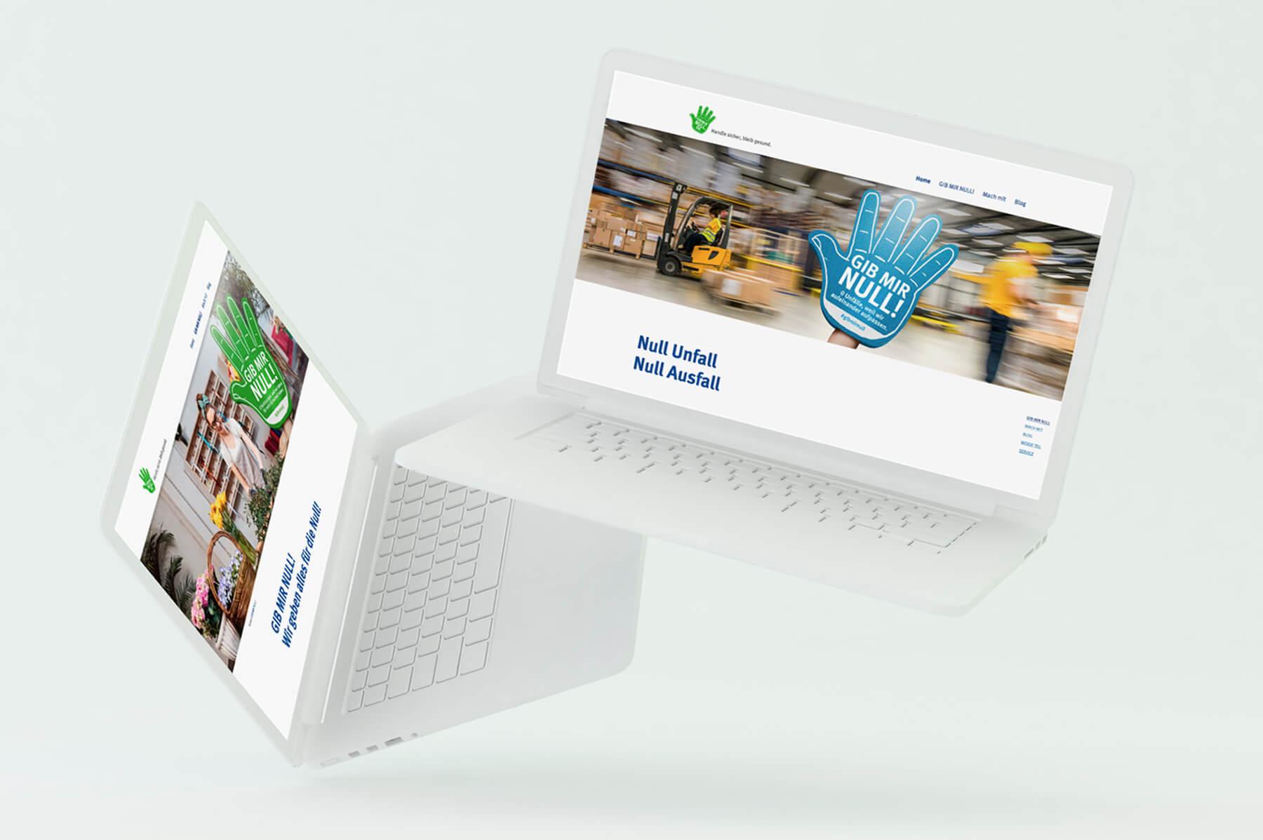 BGHW Bonn Gib mir null Kampagne Aktions-Website Webdesign Wordpress