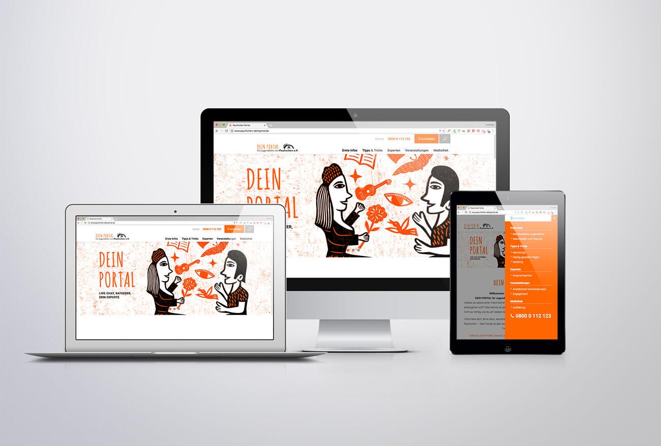 Paulinchen e.V. Initiative für brandverletzte Kinder und Jugendliche Webdesign Website Wordpress Responsive Design