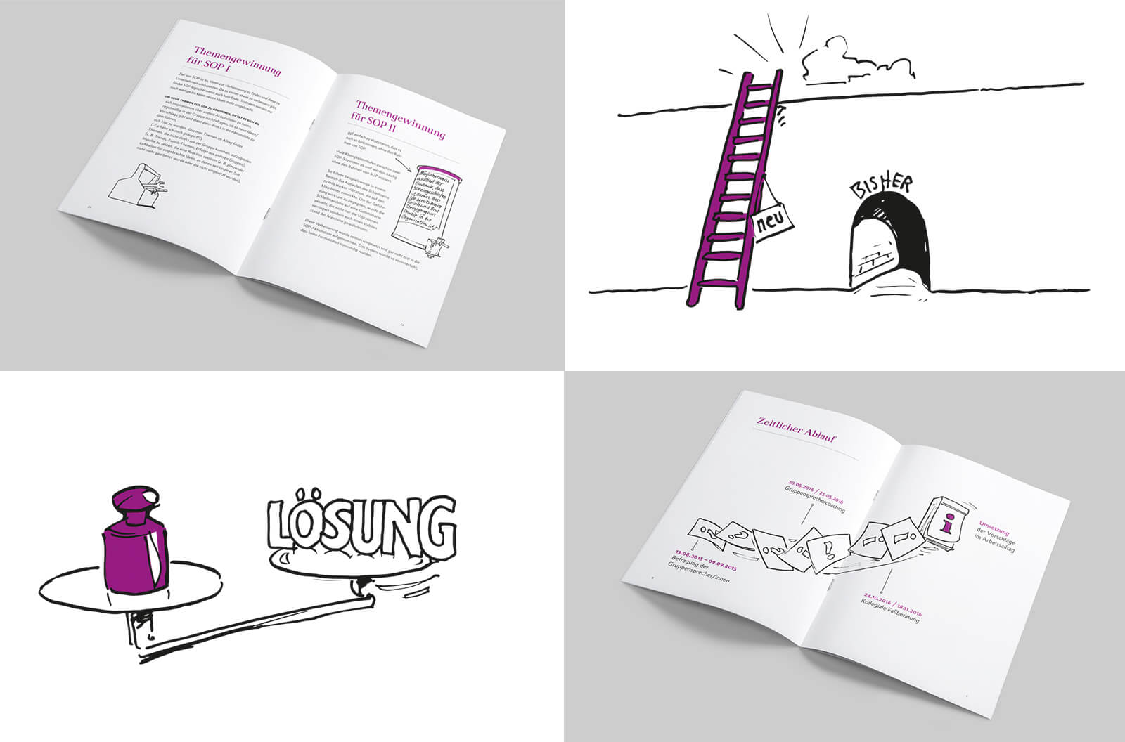 Evonik Industries AG Broschüre Illustrationen