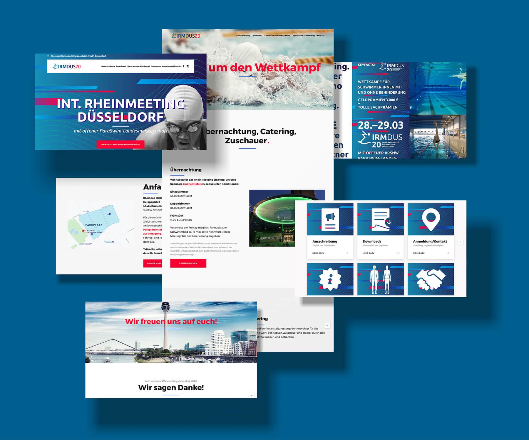 IRM DUS Logo Internationales Rheinmeeting Düsseldorf Eventmarketing Sport Website Webdesign Online Marketing