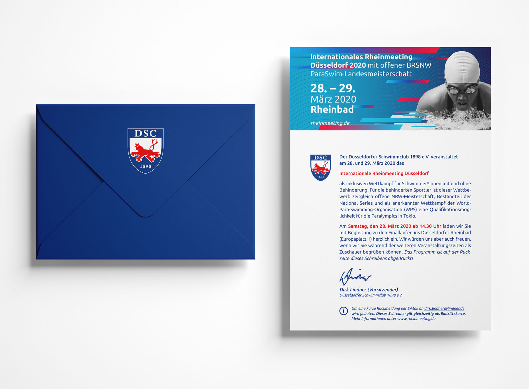 IRM DUS Logo Internationales Rheinmeeting Düsseldorf Eventmarketing Sport Mailing