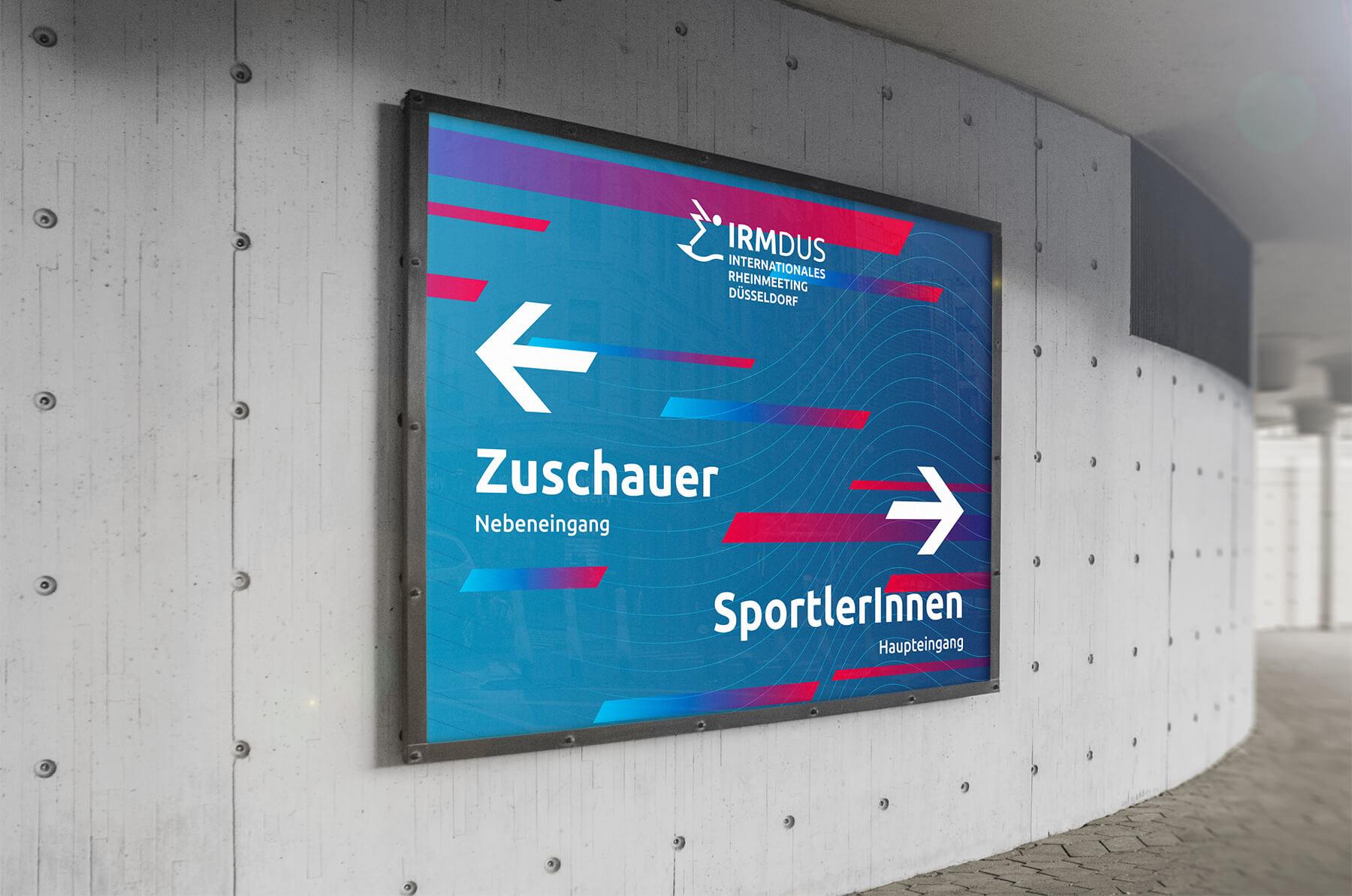 IRM DUS Logo Internationales Rheinmeeting Düsseldorf Eventmarketing Sport Aussenwerbung Plakat