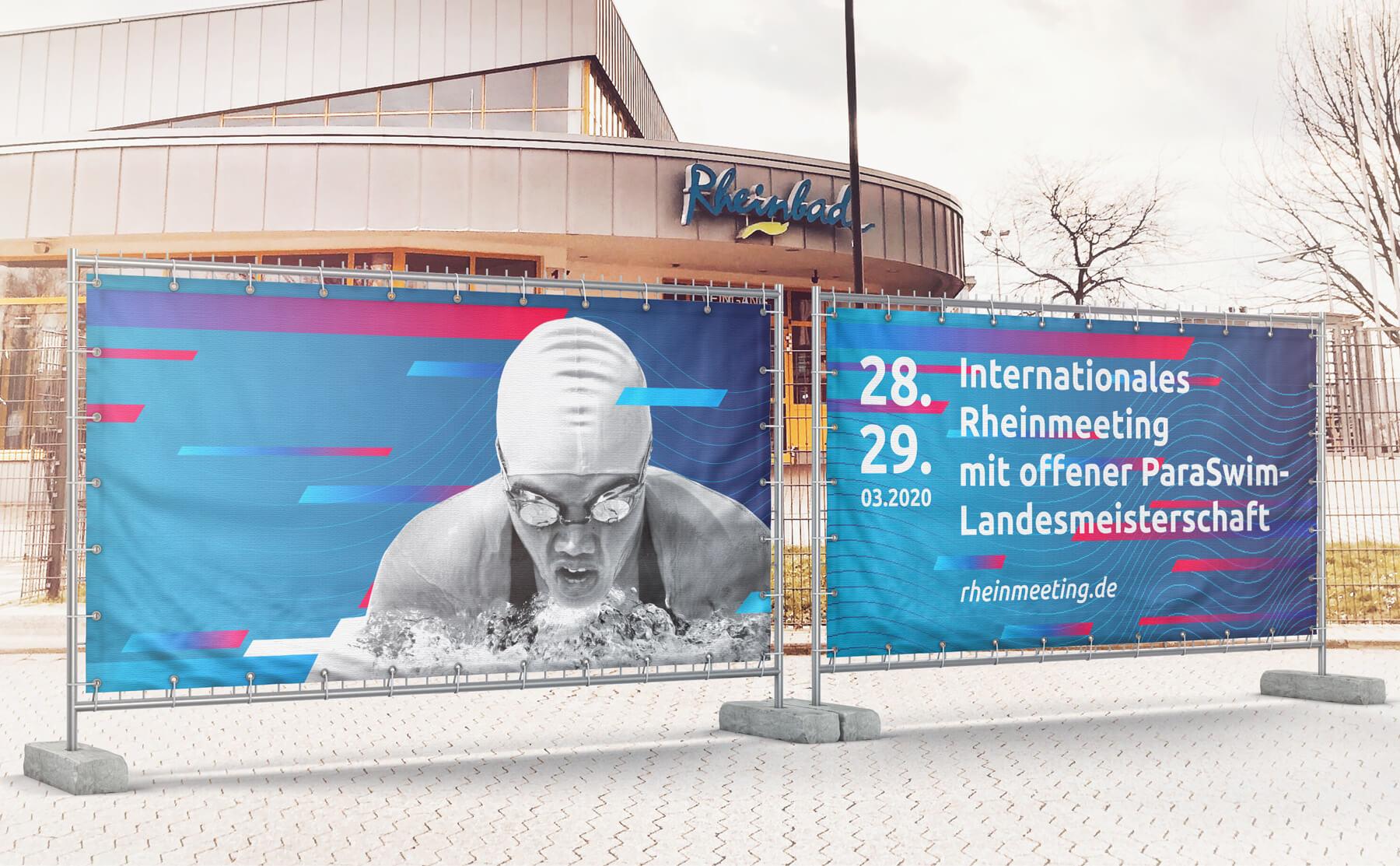IRM DUS Logo Internationales Rheinmeeting Düsseldorf Eventmarketing Sport Aussenwerbung Absperrung