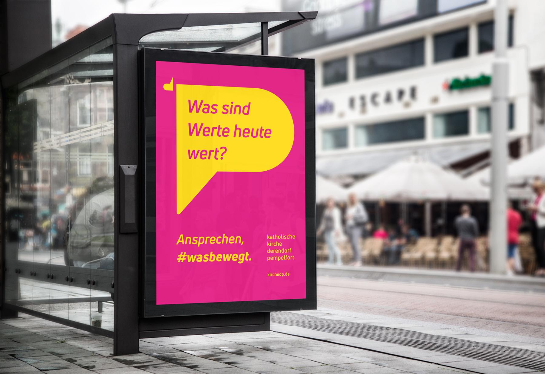 Katholische Kirchengemeinde Derendorf Pempelfort Düsseldorf Plakatkampagne wasbewegt