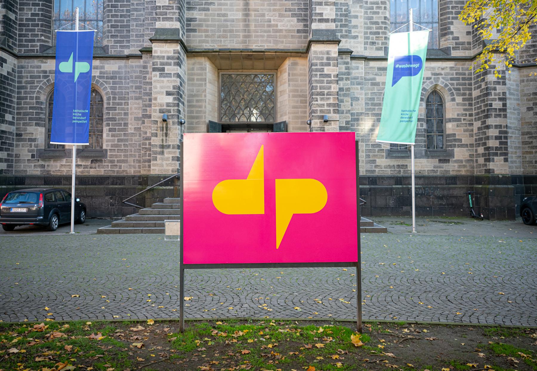 Katholische Kirchengemeinde Derendorf Pempelfort Düsseldorf Logo Schild