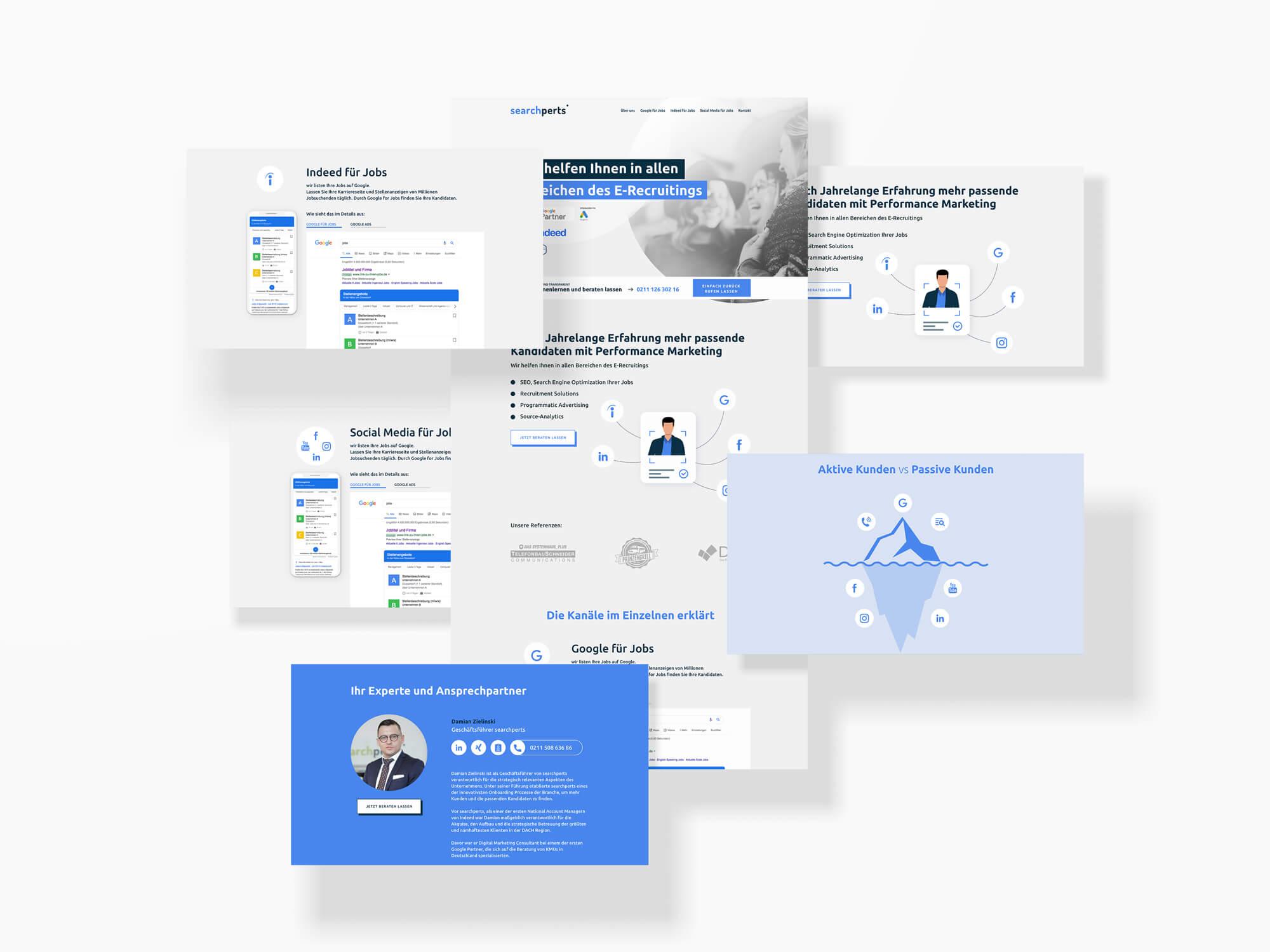 searchperts Deutschland GmbH Recruiting Webdesign UI/UX Online Marketing Werbeagentur Düsseldorf