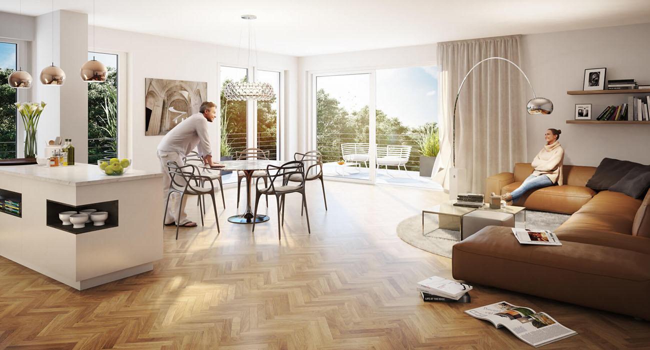 Tecklenburg Bau Düsseldorf und Straelen Interior Design Immobilien