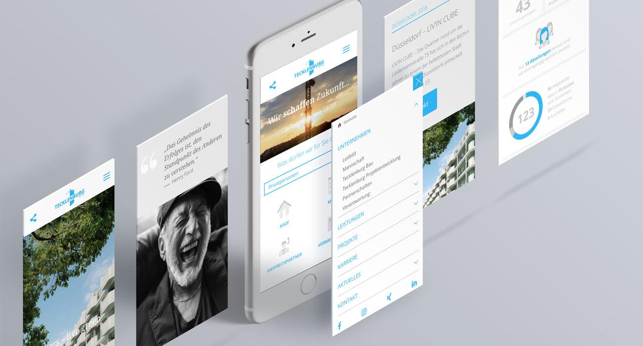 Tecklenburg Bau Düsseldorf und Straelen Webdesign für mobile Endgeräte Responsive Design