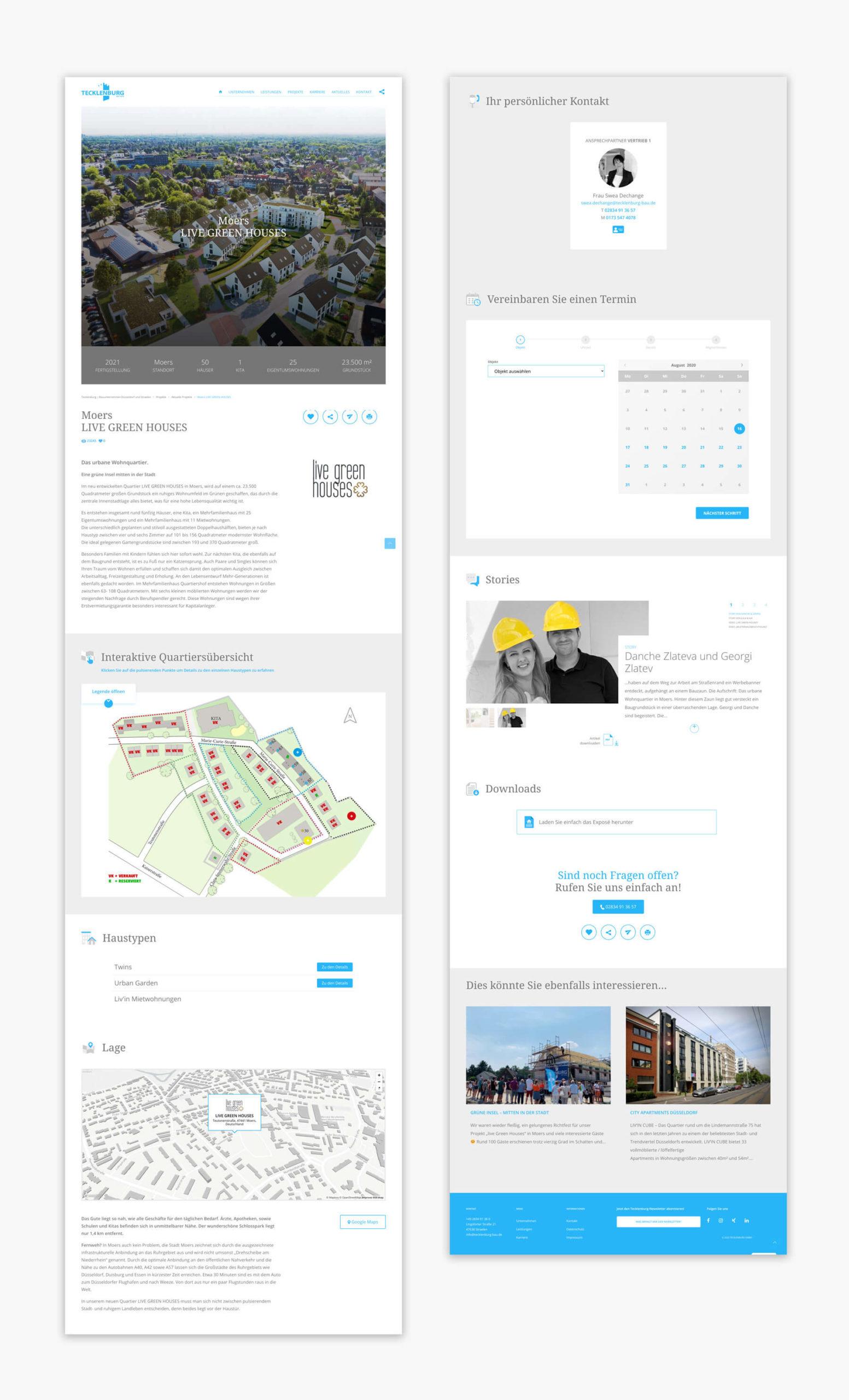 Tecklenburg Bau Webdesign und Programmierung Düsseldorf und Straelen