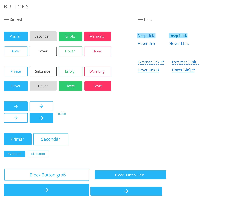 Tecklenburg Bau GmbH Webdesign Designsystem Buttons und Effekte
