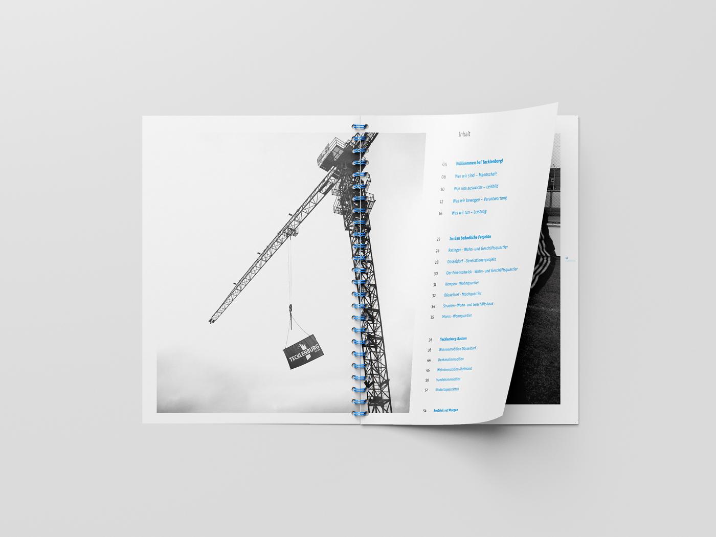 Tecklenburg Bau GmbH Imagebroschüre Innenseite Inhaltverzeichnis