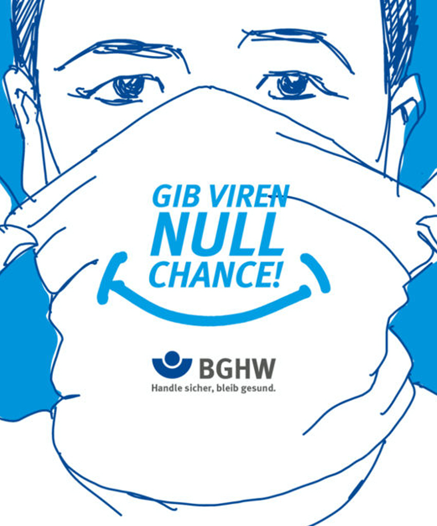 BGHW Illustration zur Kampagne Gib Viren null Chance
