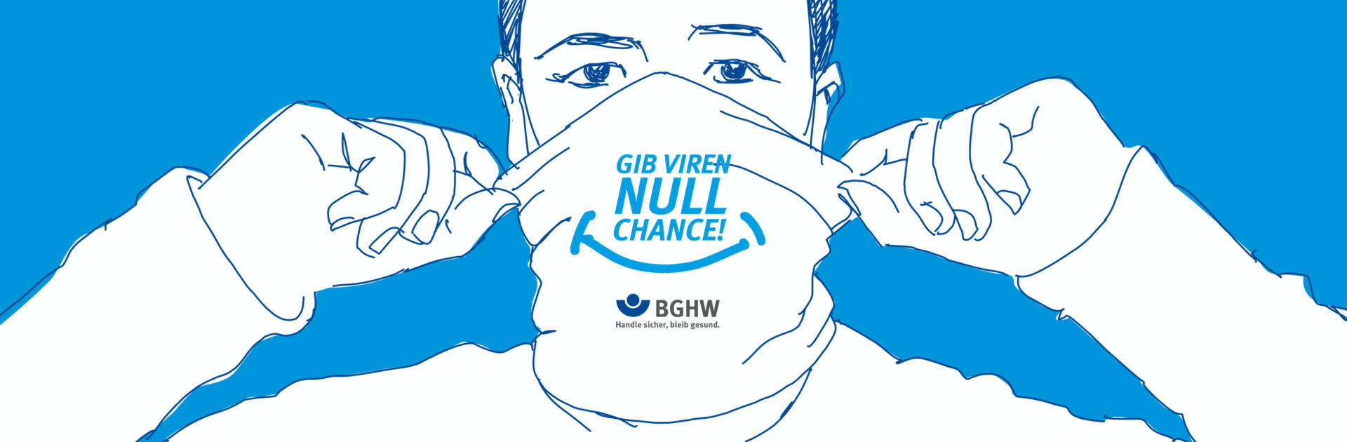 BGHW Gib Viren null Chance Webdesign Kampagnenmotiv Keyvisual
