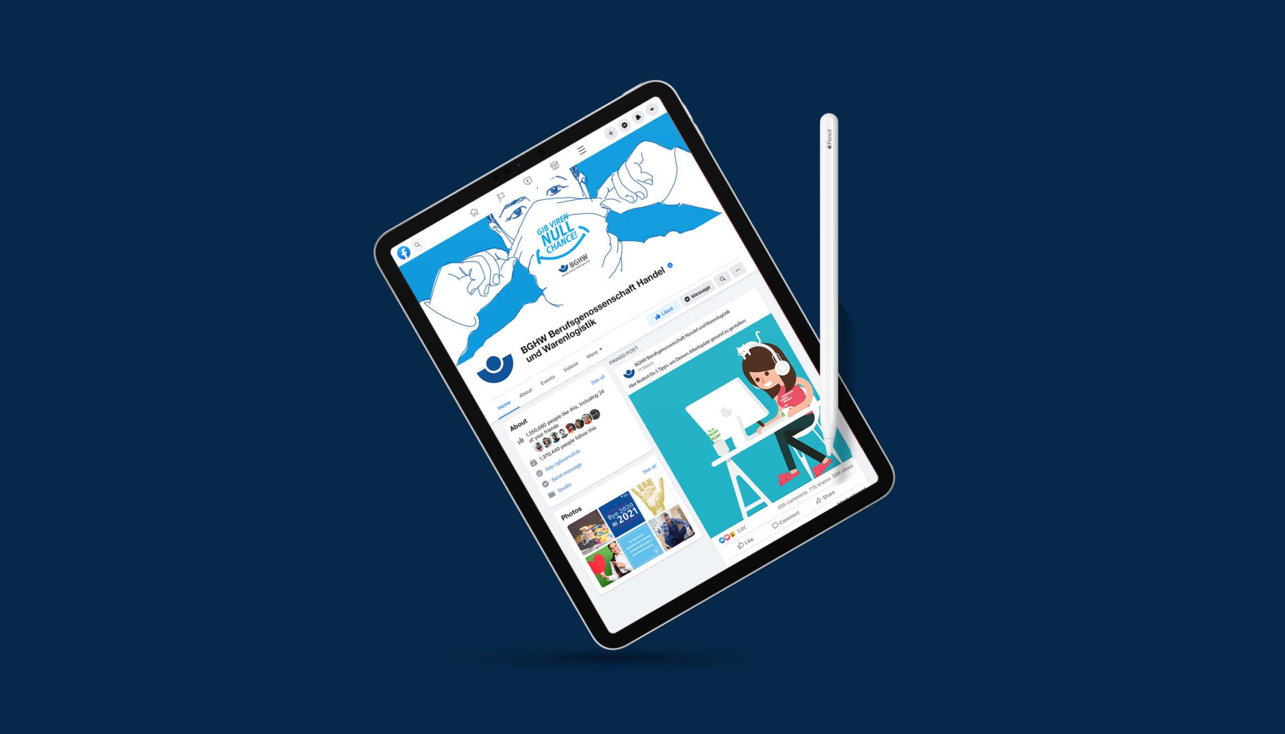 BGHW Gib Viren null Chance Webdesign Mobileversion Tablet Responsive Design
