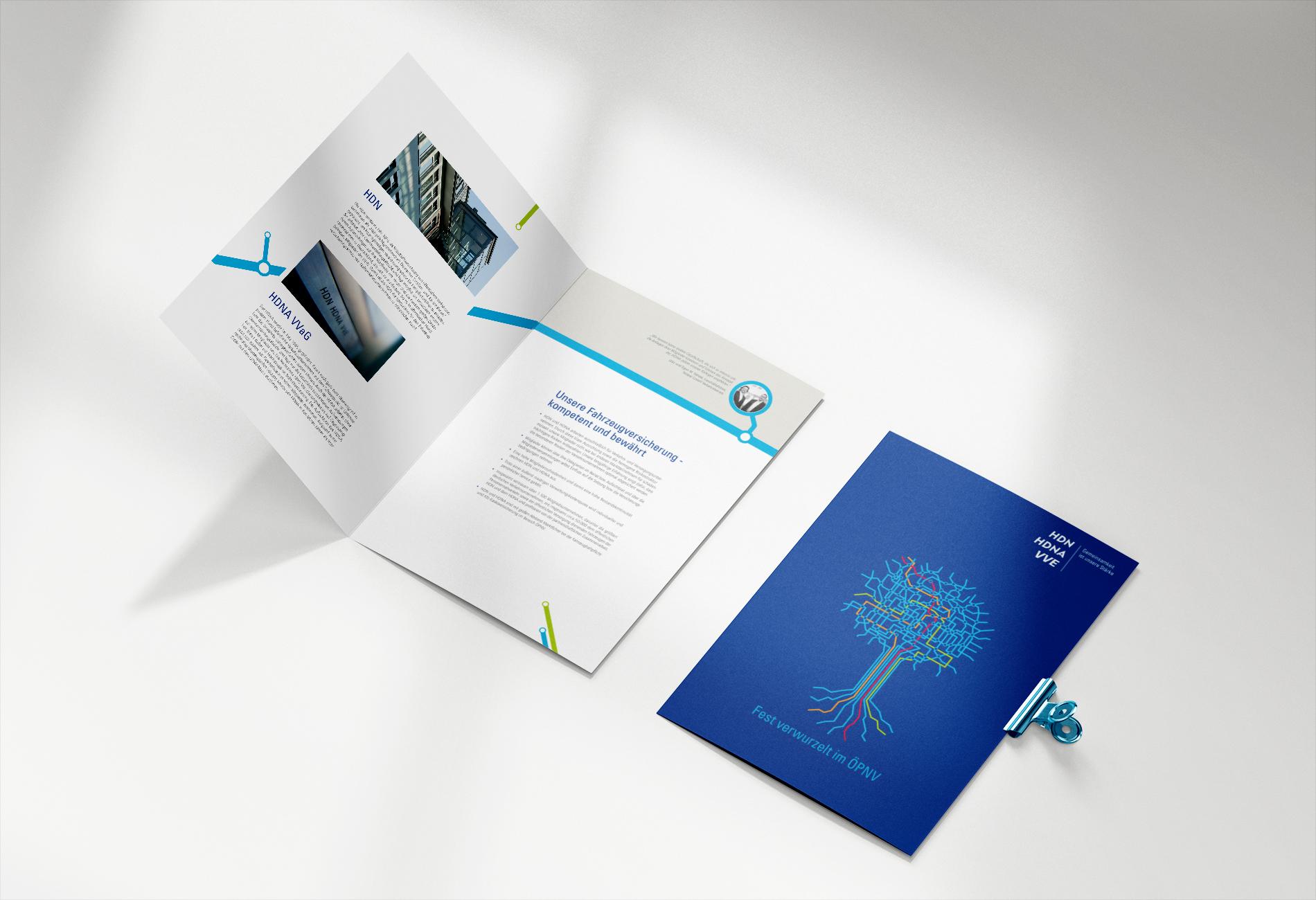 HDN/HDNA/VVE Versicherungen Bochum Magazin Titelseite und Innenseiten