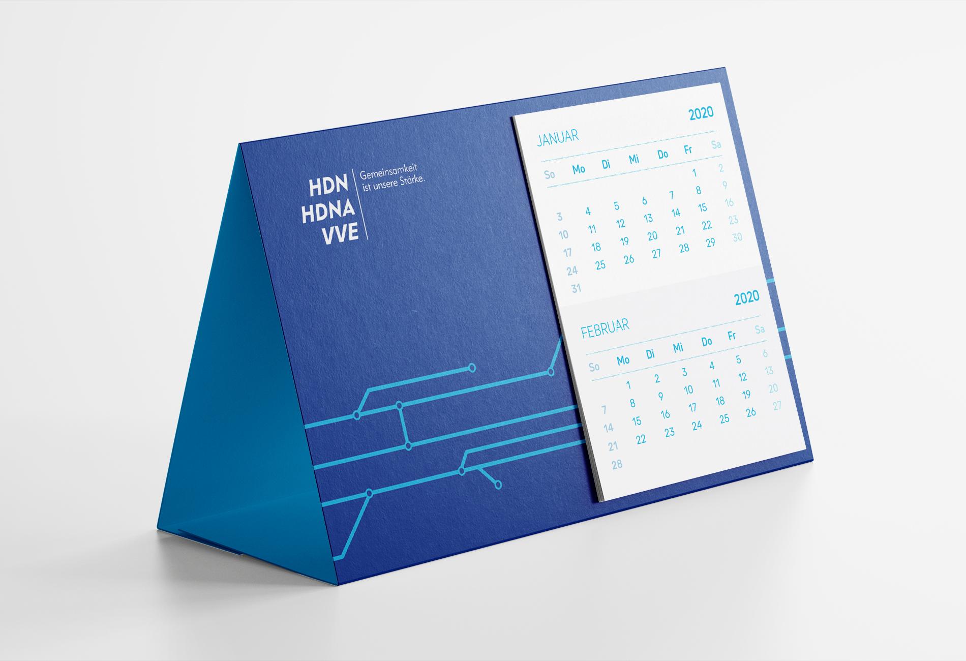 HDN/HDNA/VVE Versicherungen Bochum Tischkalender als Werbemittel