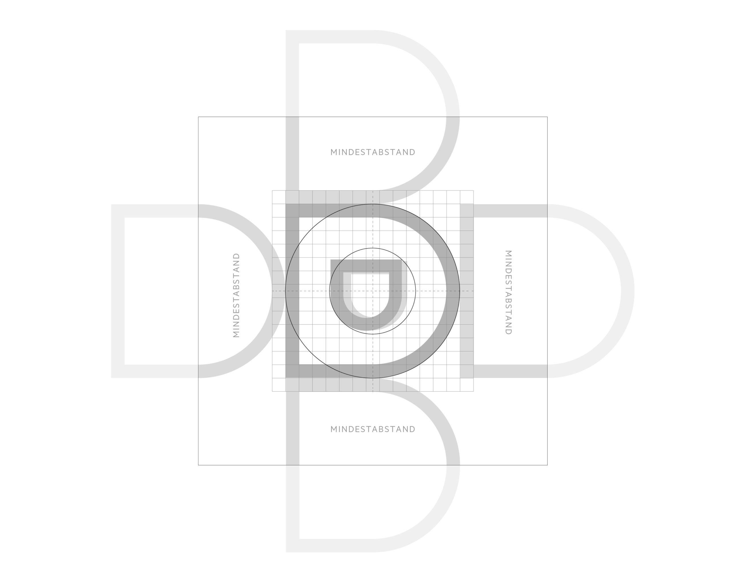 Katholische Hochschulgemeinde Düsseldorf Corporate Design Logo Konstruktion und Schutzzone Symbol