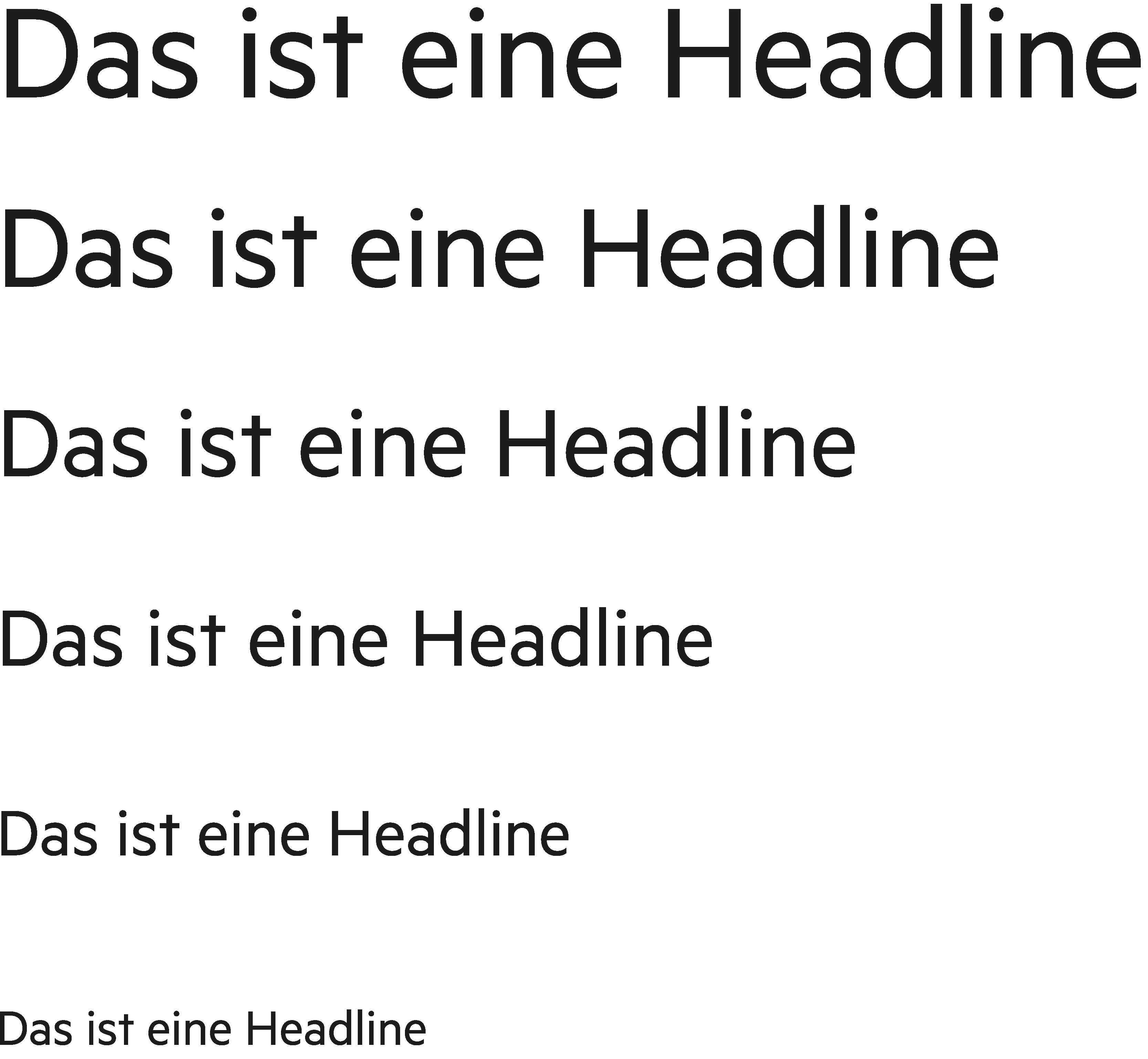Katholische Hochschulgemeinde Düsseldorf Corporate Design Brand Manual Headline-Hierarchie