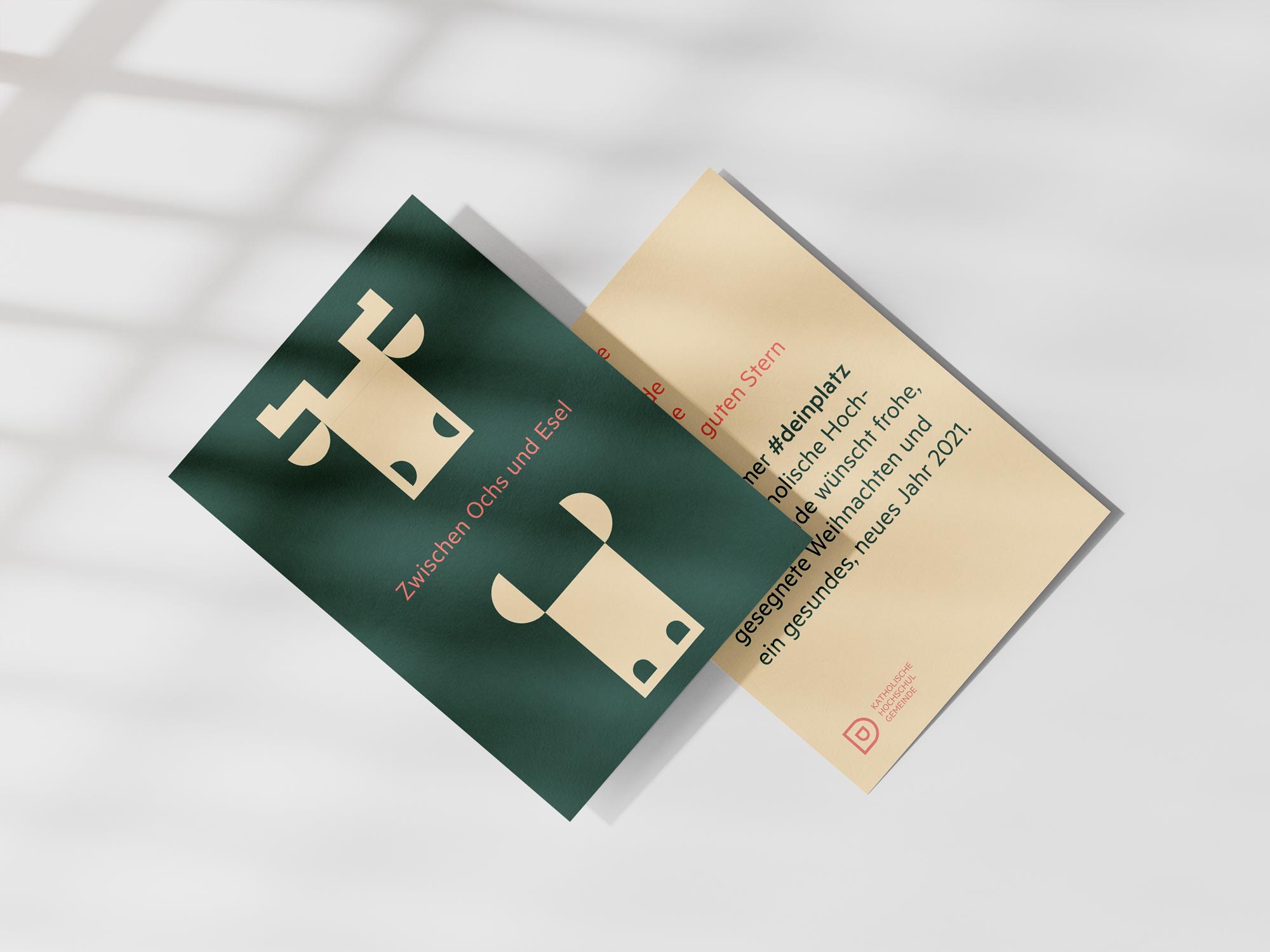 Katholische Hochschulgemeinde Düsseldorf Corporate Design Weihnachtskarte