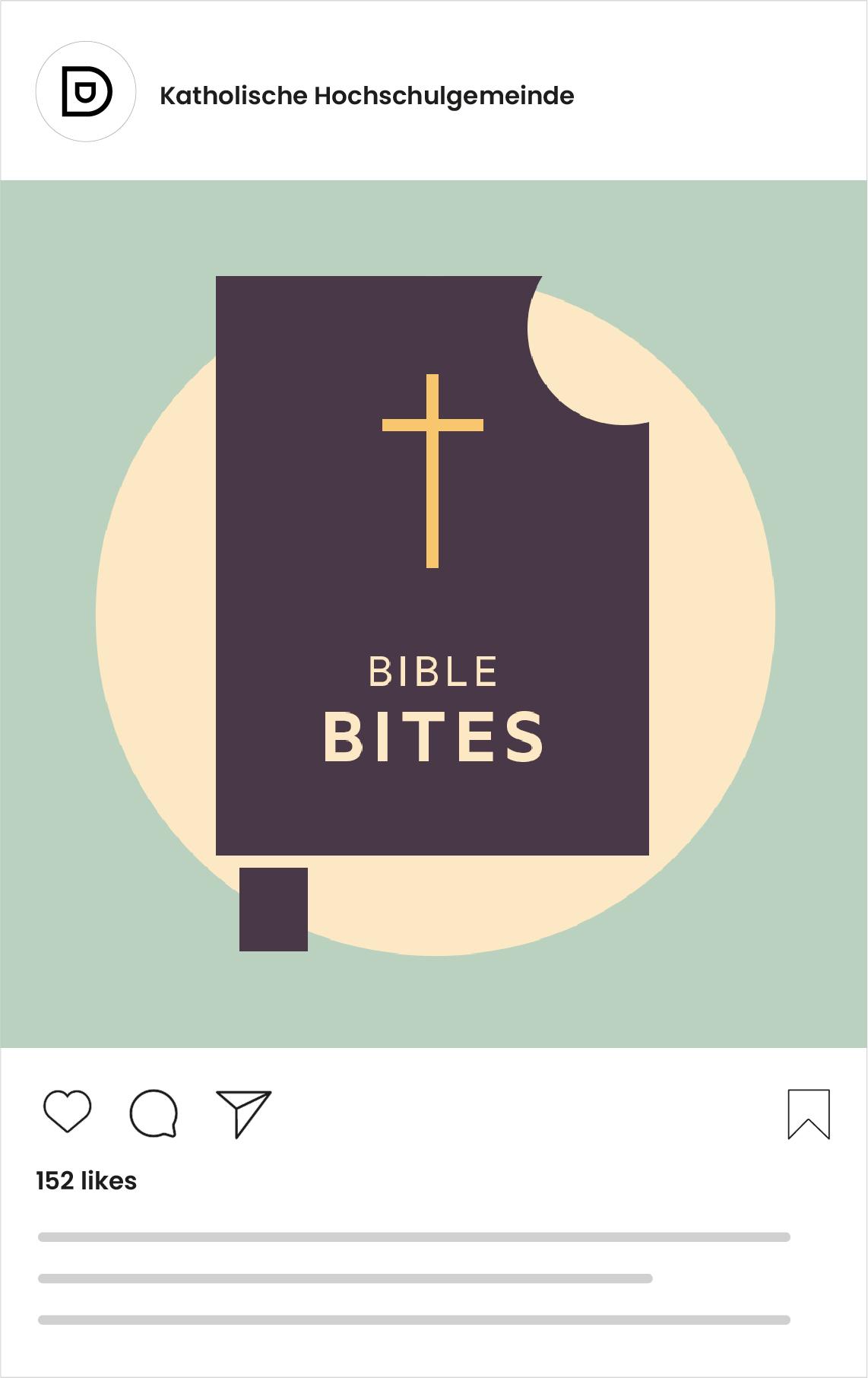 Katholische Hochschulgemeinde Düsseldorf Social Media Post zu Bible Bites