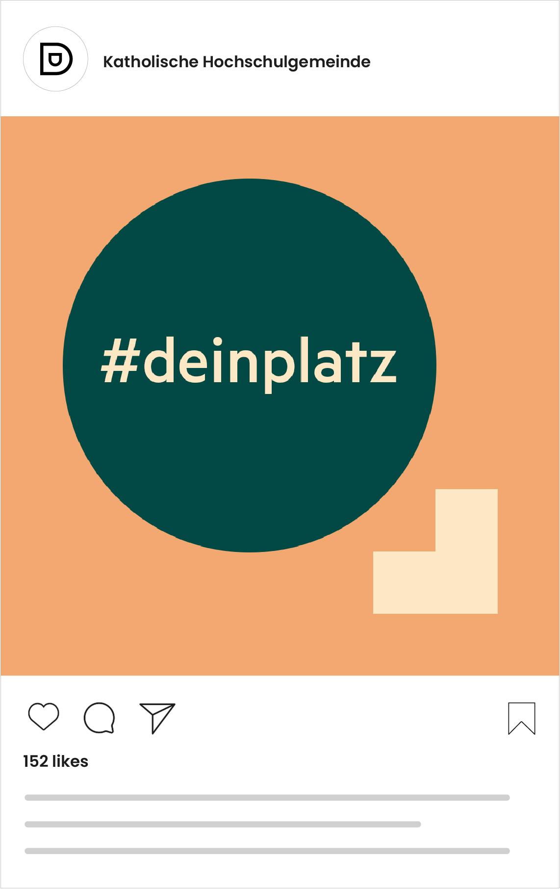 Katholische Hochschulgemeinde Düsseldorf Social Media Post zur Kampagneneinführung