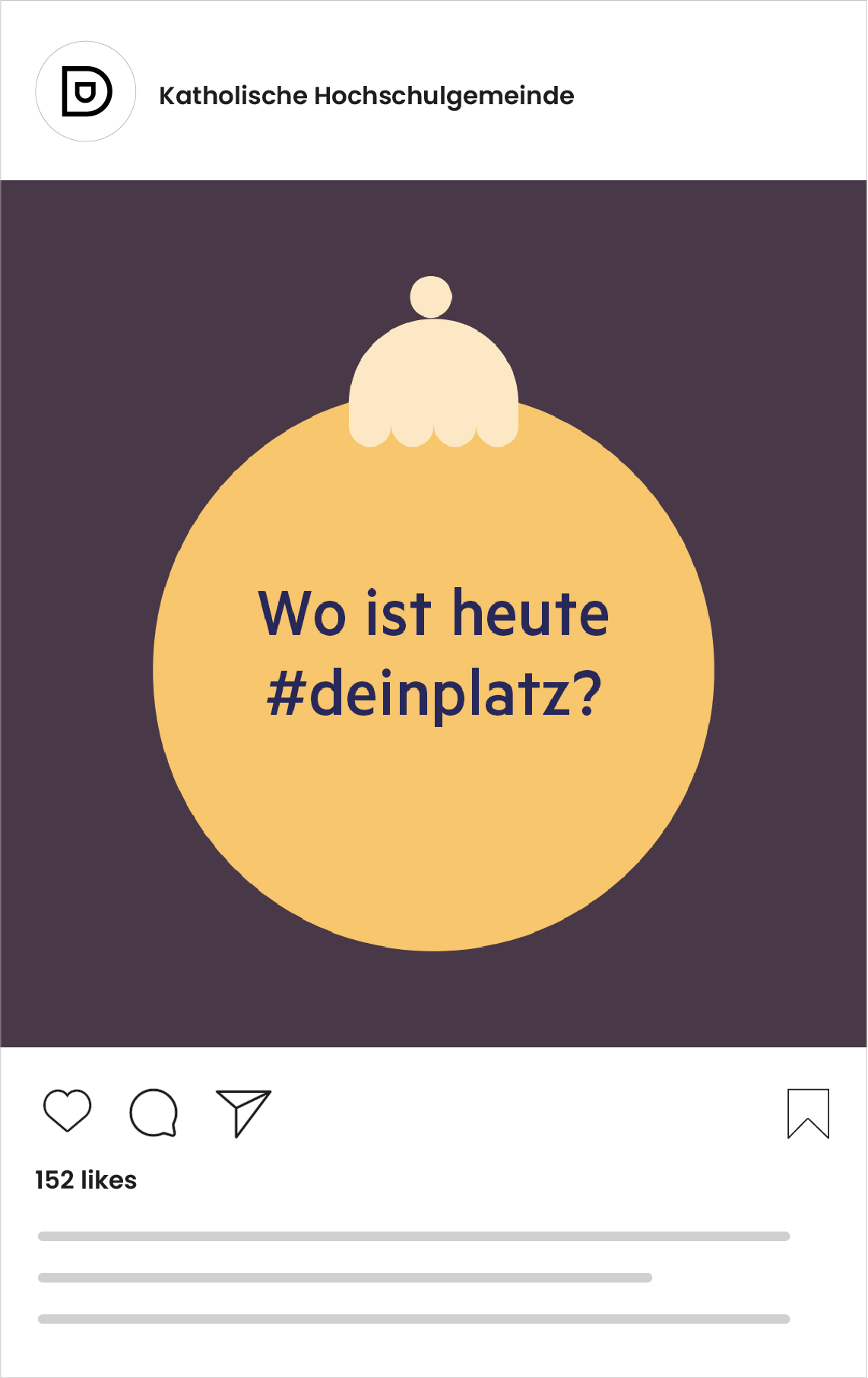 Katholische Hochschulgemeinde Düsseldorf Social Media Post zu Weihnachten