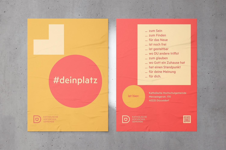 Katholische Hochschulgemeinde Düsseldorf Aussenwerbung DIN 0 Plakate Hochschulen Düsseldorf