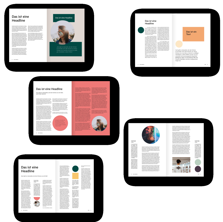 Katholische Hochschulgemeinde Düsseldorf Editorial Design DIN A4 Broschüre Titelseiten und Innenseiten