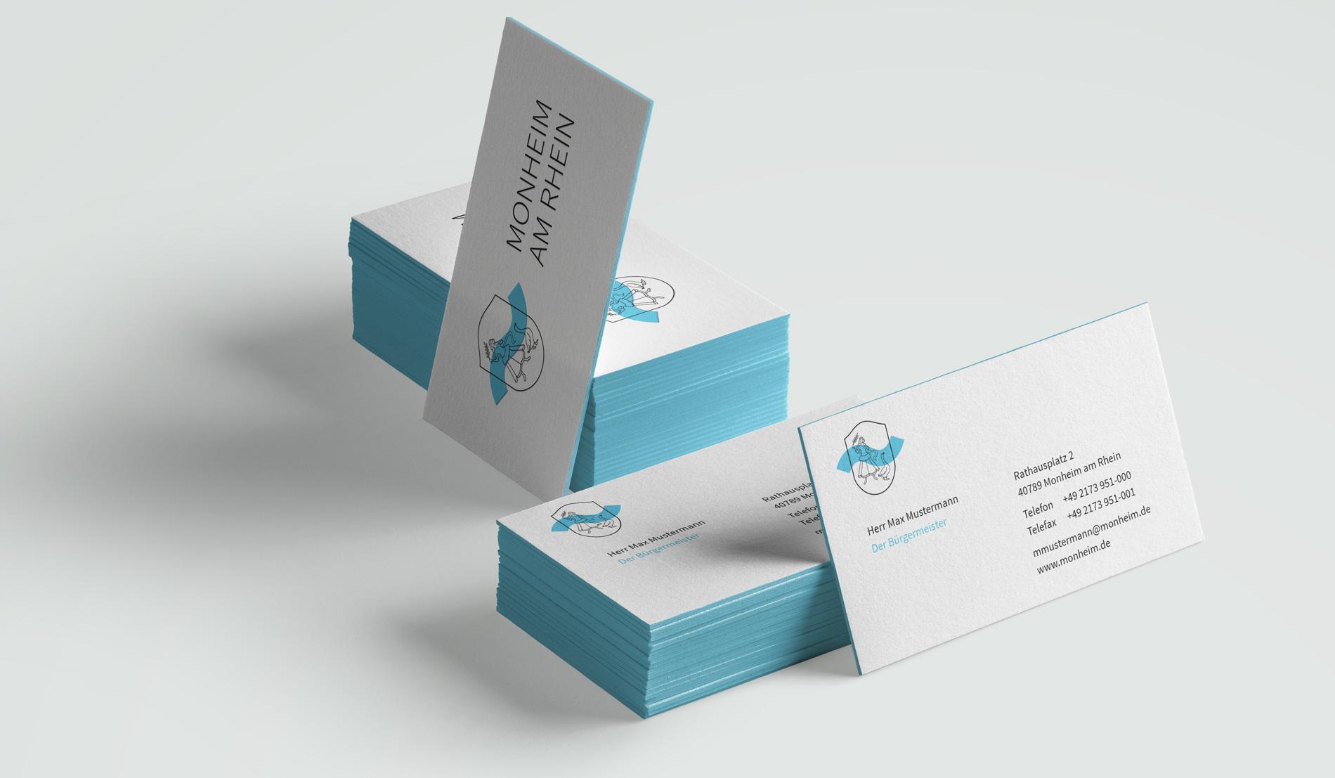 Monheim am Rhein Corporate Design Visitenkarten