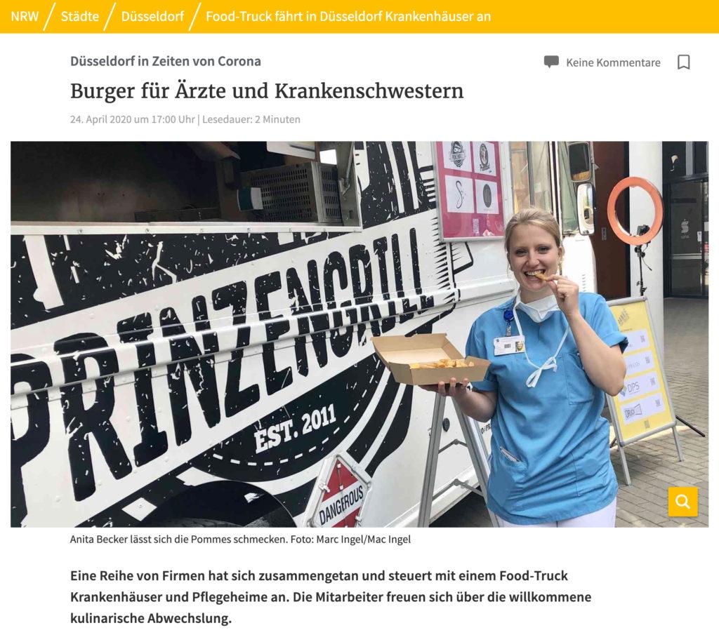 Rheinische Post Interview Aktion Danke Food Truck