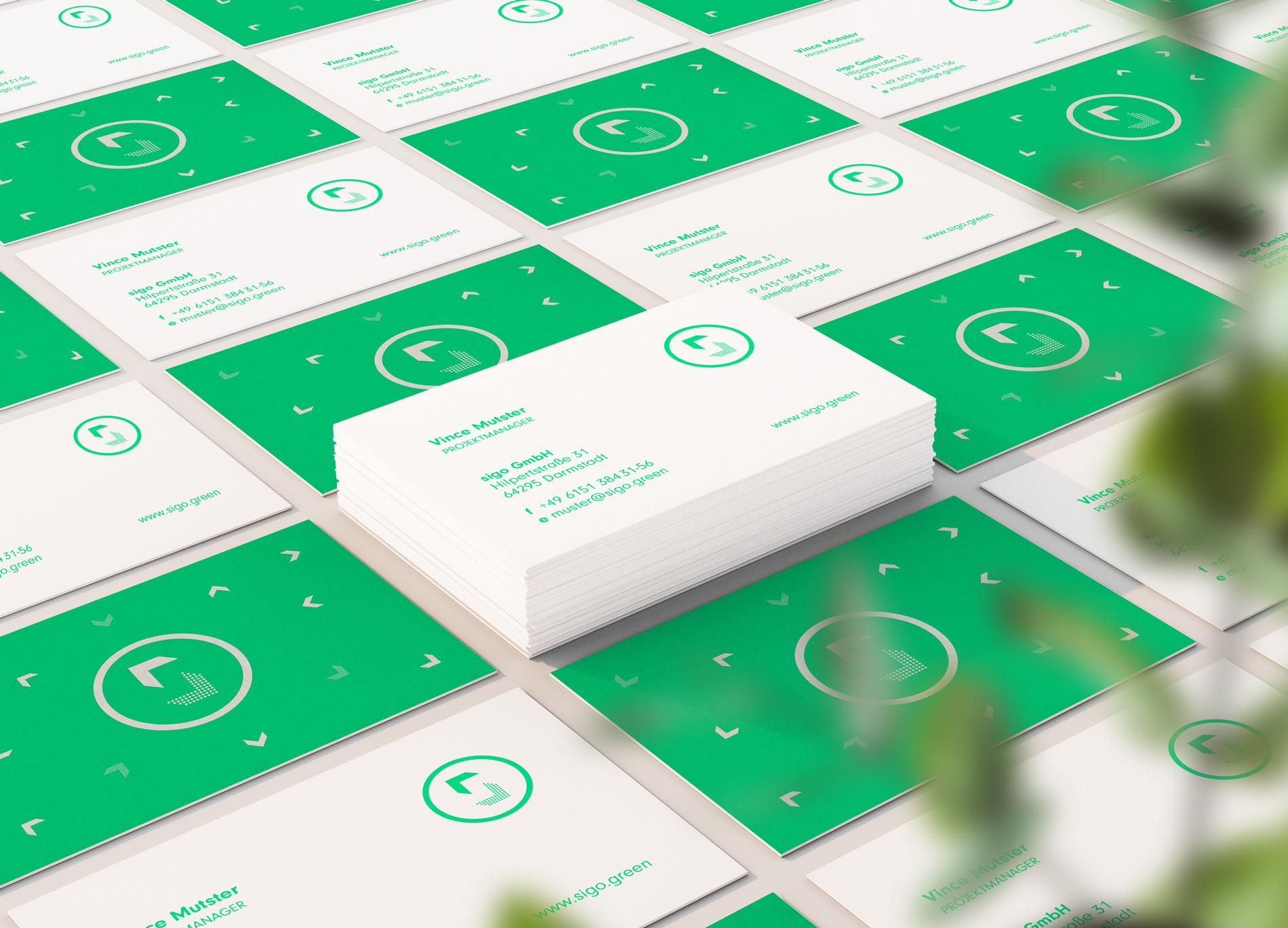 sigo GmbH Lastenfahrrad Geschäftsausstattung Visitenkarten