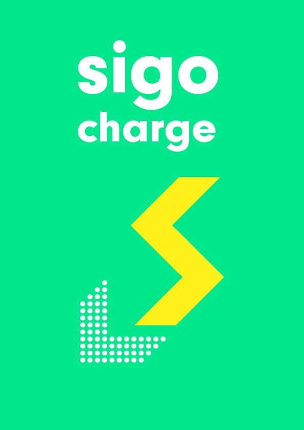 sigo GmbH Lastenfahrrad Hinweisschild für die Ladestation