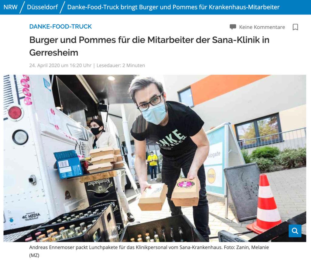 Westdeutsche Zeitung Aktion Danke Food Truck