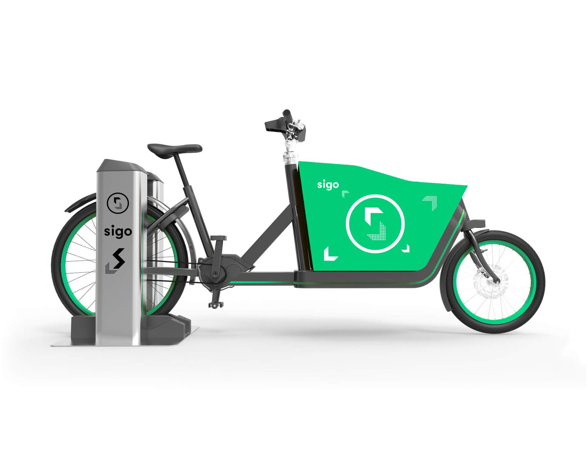Sigo elektromobilität Startup für Lastenräder Corporate Design und Logodesign ist vom Büro Fundament aus Düsseldorf umgesetzt
