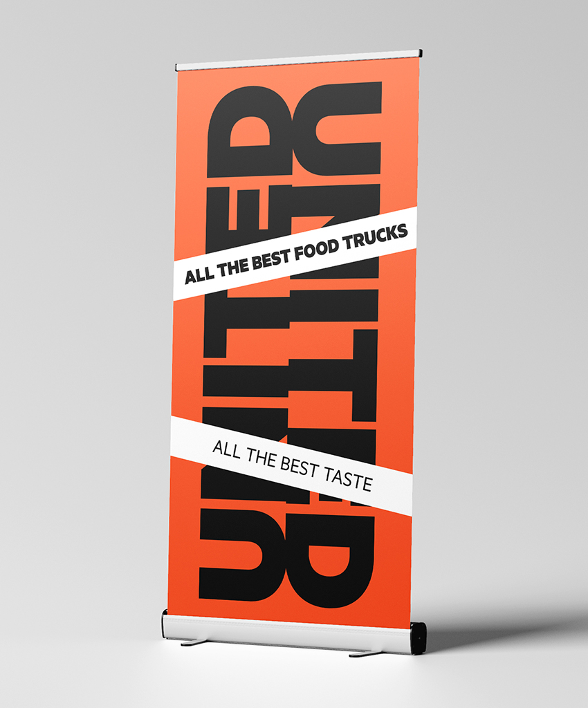 Corporate Communication Kampagne Rollup Street Food United