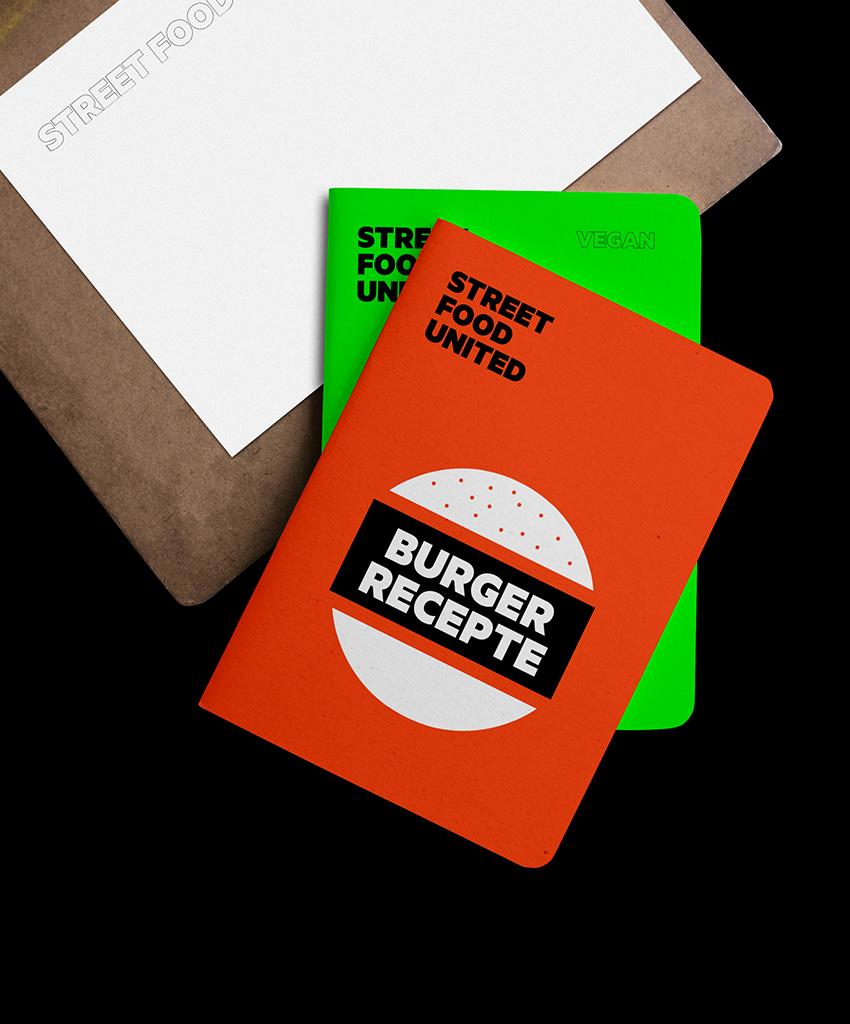 Give away Notebook Rezeptbuch Street Food Designagentur aus Düsseldorf